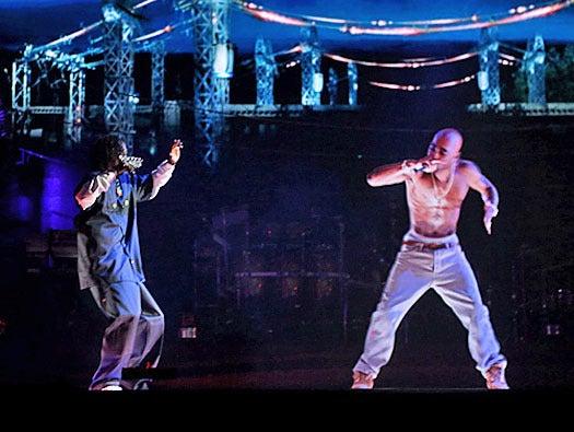 holograms, Tupac Shakur and Snoop Dogg