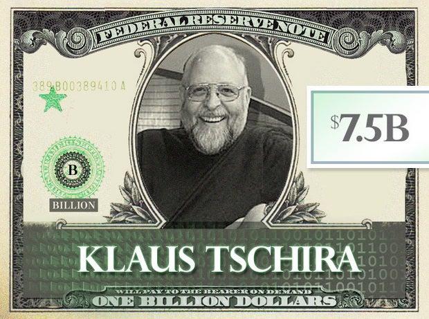 Klaus Tschira, $7.5B