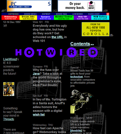 HotWired.com website circa 1997