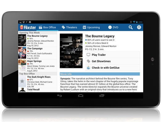 Movies by Flixster for Android Tablets