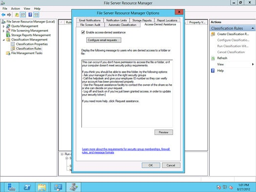 Windows Server 2012 - user assistance