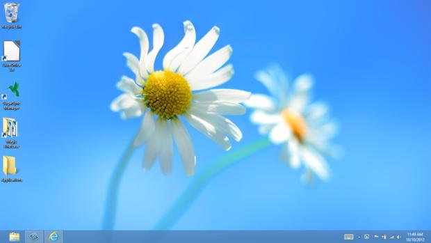 the Desktop in Windows 8