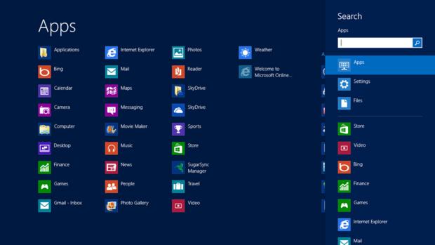 Windows 8 Search charm