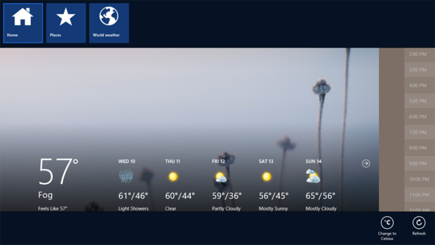 App bar in Windows 8 apps