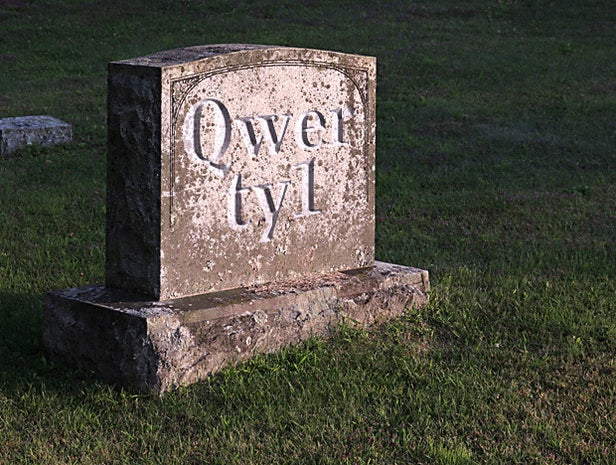 Gravestone with QWERTY