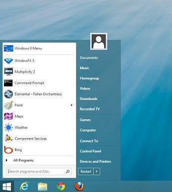 A Start-menu replacement (Windows 8 only)