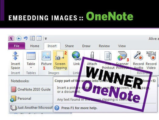 Evernote Touch and Microsoft OneNote