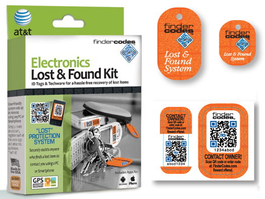 FinderCodes Electronics Lost & Found Kit
