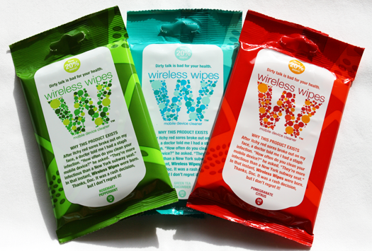 Wireless Wipes pouches