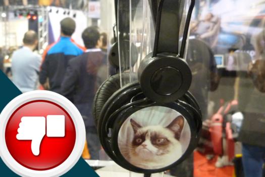 Grumpy Cat headphones