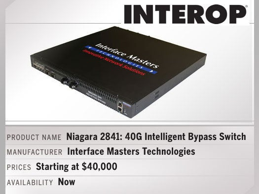Niagara 2841: 40G Intelligent Bypass Switch Manufacturer name Interface Masters Technologies