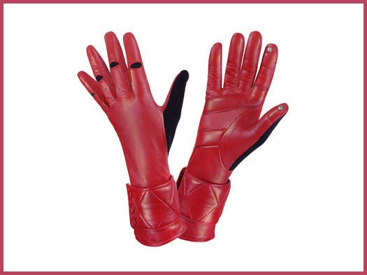 Stylish Leather Tec Touch Gloves