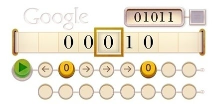 Google Doodle for Alan Turing's 100th birthday