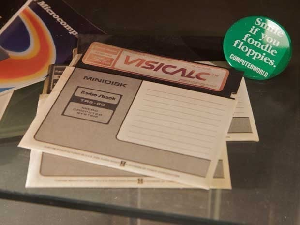 Picture of VisiCalc floppy disks