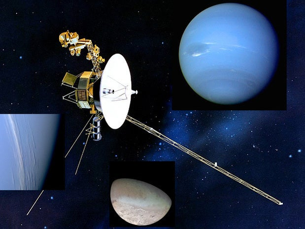 Voyager 2 buzzes Neptune