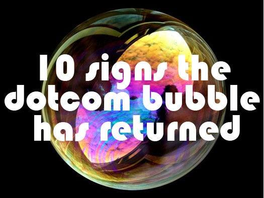 10 signs the dot-com tech bubble has returned