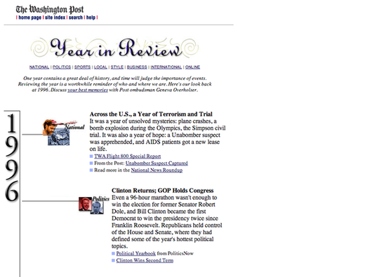 The Washington Post's 1996 year in review
