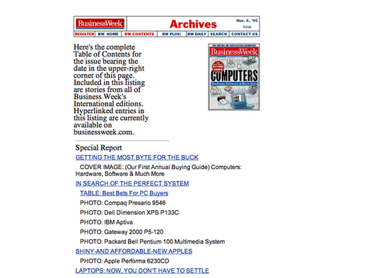 Business Week Computer Buying Guide 1995