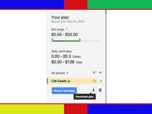 Google Keyword Planner: Save Keywords to a Plan