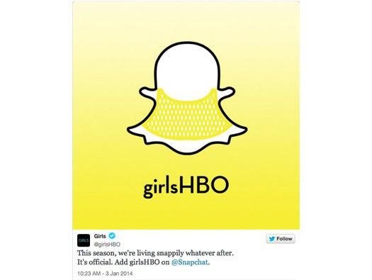 HBO\'s Girls on Snapchat