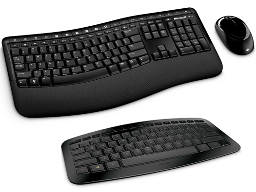 Microsoft Wireless Comfort Desktop 5000 and Arc keyboards