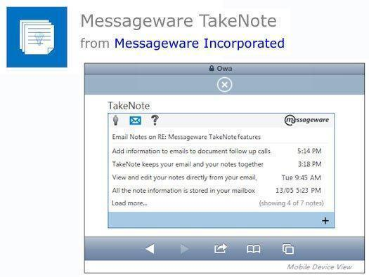 Messageware TakeNote