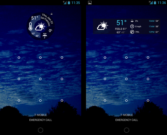 1Weather screenshots