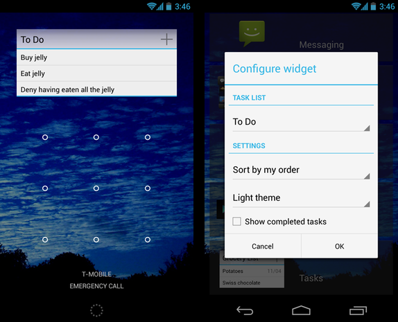 Tasks screenshots