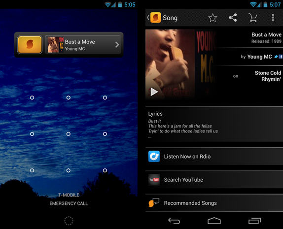SoundHound screenshots