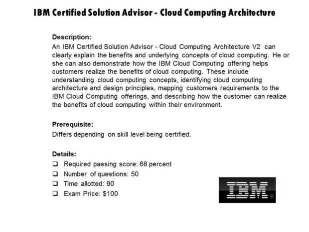 IBM Certified Solution Advisor - Cloud Computing Architecture certification