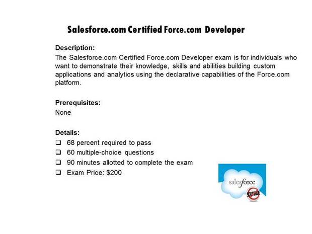 Salesforce.com Certified Force.com Developer certification