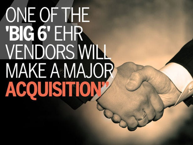 One of the 'Big 6' EHR Vendors Will Make a Major Acquisition