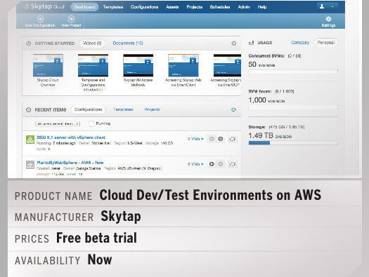 Skytap Cloud Dev/Test Environments on AWS