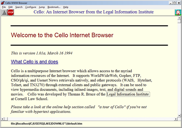 Cello browser in 1994
