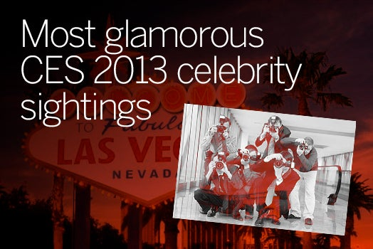Celebrity sightings at CES 2012
