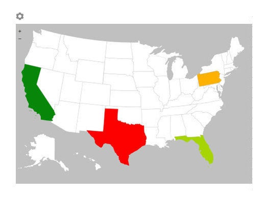Geographic Heat Map for Excel 2013
