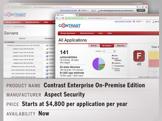 Contrast Enterprise On-Premise Edition