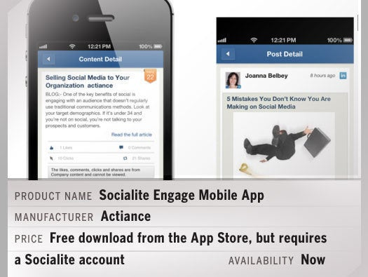 Socialite Engage Mobile App