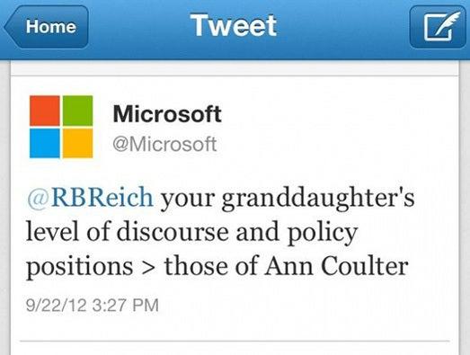 Microsoft v. Ann Coulter