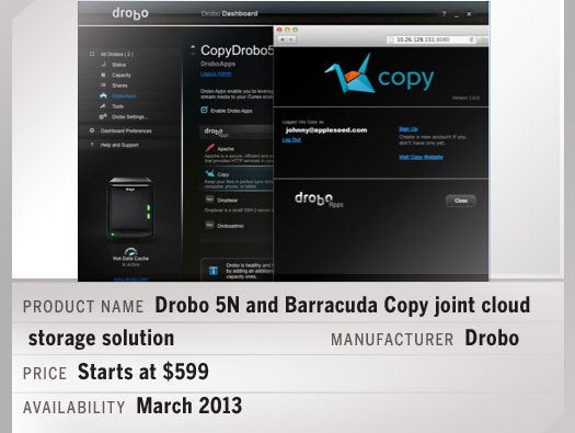 Drobo 5N and Barracuda Copy joint cloud storage solution