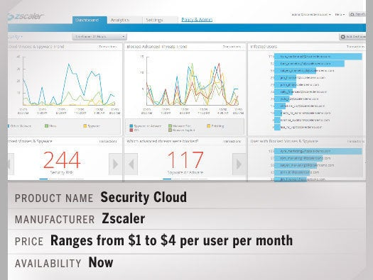 "Zscaler Security Cloud with ""big visibility"" security analytics"