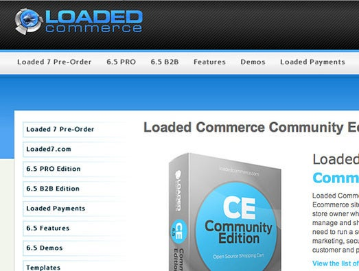Loaded Commerce Community Edition (CE)