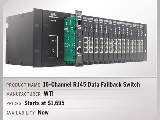 16-Channel RJ45 Data Fallback Switch