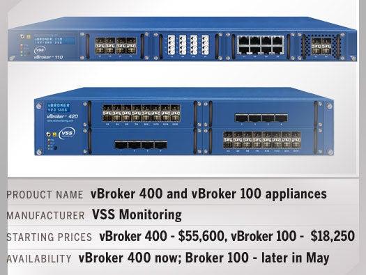 vBroker 400 and vBroker 100 appliances