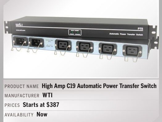 High Amp C19 Automatic Power Transfer Switch