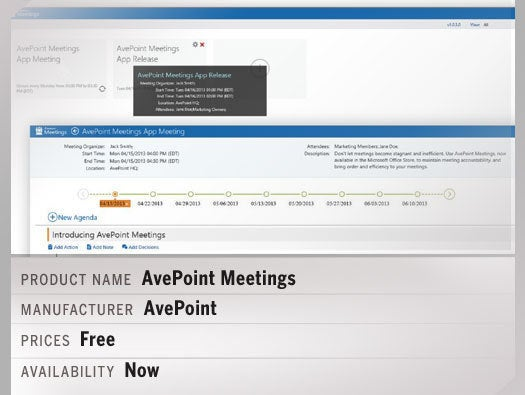 AvePoint Meetings: a Microsoft SharePoint App for Productivity