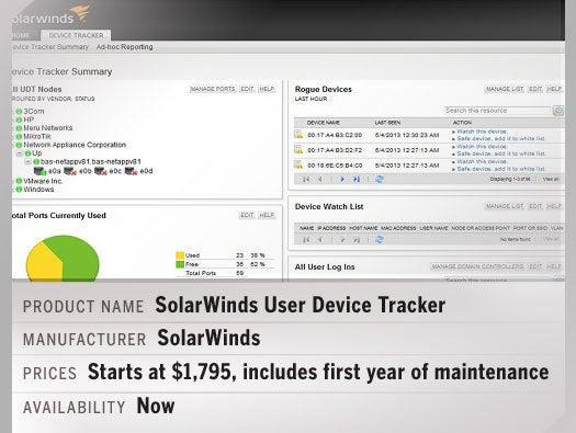 SolarWinds User Device Tracker