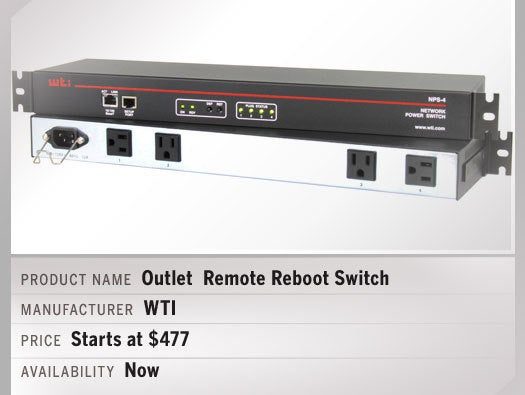 4-Outlet Remote Reboot Switch