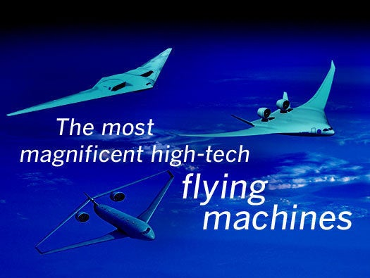 high-tech flying machines