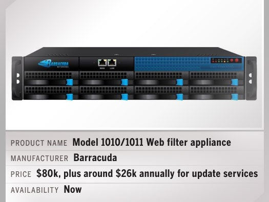 Model 1010/1011 web filter appliance